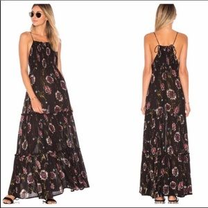 Free People Intimately Black Floral Maxi Dress